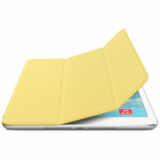Product image of Apple Polyurethane Smart Cover (Yellow) for iPad Mini