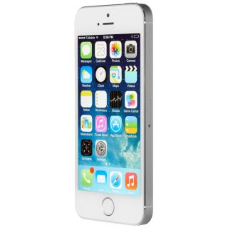 Product image of Apple iPhone 5S (4 inch Multi-Touch) 16GB WLAN WWAN Bluetooth Camera Fingerprint-Sensor iOS7 (Silver)