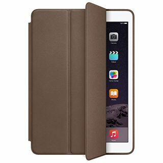 Product image of Apple Aniline-dyed Leather Smart Case (Olive Brown) for iPad Air 2