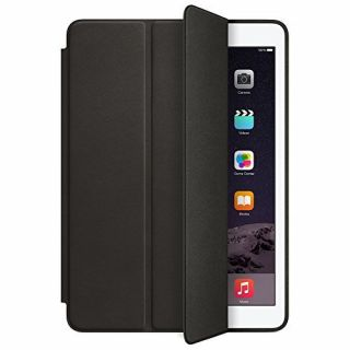 Product image of Apple Aniline-dyed Leather Smart Case (Black) for iPad Air 2