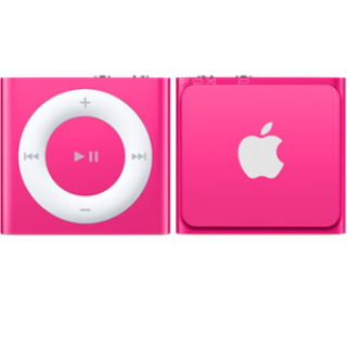 Product image of Apple iPod Shuffle (2GB) VoiceOver Playlists (Pink)