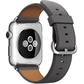Product image of Apple Classic Buckle (42mm) Watch Strap (Storm Grey) for 42mm Watch Case