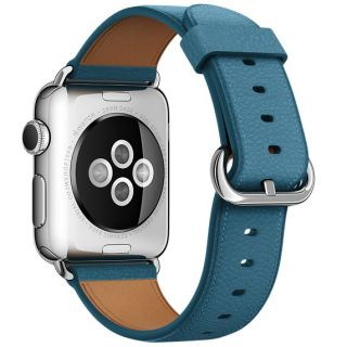 Product image of Apple Classic Buckle (38mm) Watch Strap (Marine Blue) for 38mm Watch Case