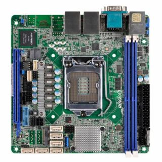 Product image of ASROCK_RACK E3C236D2I Asrock Rack E3C236D2I Server Board Intel C236 1151 Mini ITX DDR4 Dual GB LAN IPMI LAN Serial Port