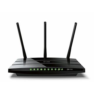 Product image of TP-LINK AC1750 1300Mbps (5GHz) 450Mbps (2.4GHz) Dual-Band Wireless Gigabit Router Black (V1.0)