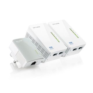 Product image of TP-LINK AV500 300Mbps Powerline Universal WiFi Range Extender with 2 Ethernet Ports (Network Triple Kit)*