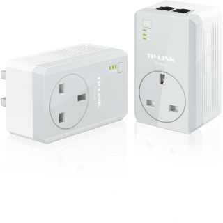 Product image of TP-LINK AV500 TL-PA4020P 500Mbps Powerline Adaptor with AC Pass Through Starter Kit (Twin Pack) - V1.0
