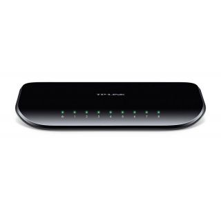 Product image of TP-LINK TL-SG1008D 8-Port Unmanaged Gigabit Desktop Switch V6 (Black)
