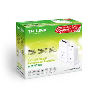 Product image of TP-LINK AV1200 TL-WPA8630P 1200Mbps Gigabit Passthrough Powerline AC Wi-Fi Kit (White)