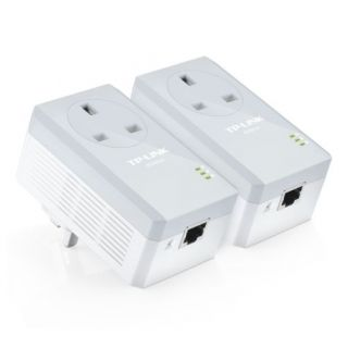 Product image of TP-LINK TL-PA4010P KIT V2 TP-LINK (TL-PA4010P KIT V2) AV600 10/100 Powerline Adapter Kit AC Pass Through