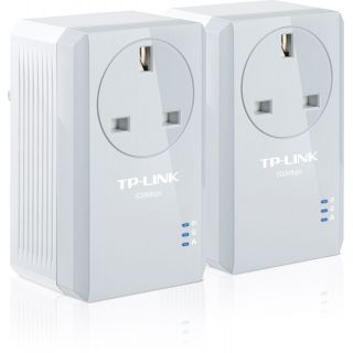 Product image of TP-LINK AV500 TL-PA4010P 500Mbps Powerline Adaptor with AC Pass Through Starter Kit (Twin Pack)