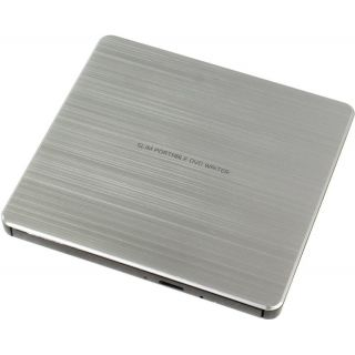Product image of LG GP60NS60 LG (GP60NS60) External Slimline DVD Re-Writer USB 8x Grey M-Disc Support Power2Go