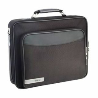 Product image of Techair Classic Clam Briefcase (Black) for 17.3 inch Laptops and 800dpi Optical Mouse (Silver/Black)