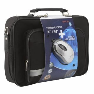 Product image of Bundle: Techair Notebook (Black) and Optical Mouse (Silver) for 11.6 inch Netbook