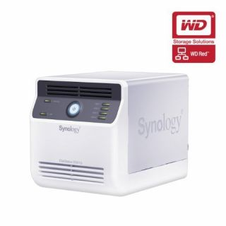 Product image of Synology DiskStation DS413j 8TB (4 x 2TB) 4-Bay NAS Server with WD Red Hard Disk Drives