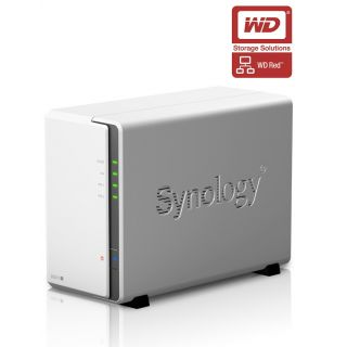 Product image of Synology DiskStation DS215j 6TB (2 x 3TB) 2-Bay Desktop NAS Server with WD Red Hard Disk Drives