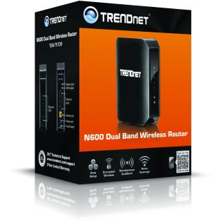 Product image of TRENDnet N600 TEW-751DR 300Mbps Dual Band Wireless N Router (Black)