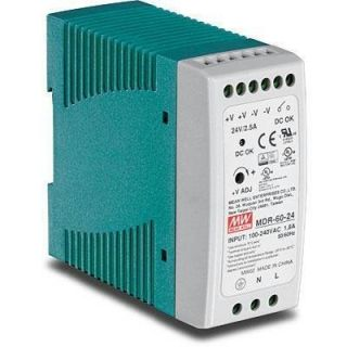 Product image of TRENDNET DIN RAIL 24V 60W POWER SUPPLY TI-G50 TI-G62 TI-G80 TI-F11SFP IN