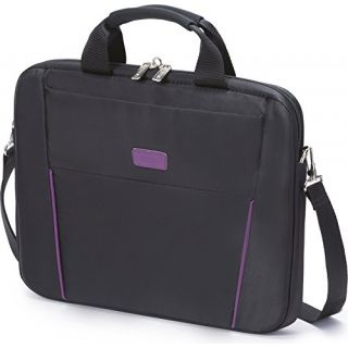 Product image of DICOTA - CONSIGNMENT SLIM CSE BASE 15.6IN BLACK/PURP .