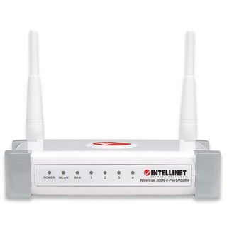 Product image of INTELLINET 300N WIRELESS ROUTER 300MBPSWHITE4-PORT FAST ETHERNET IN