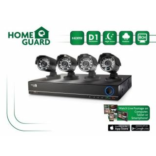 Product image of Storage Options HomeGuard HG8KIT4C1T 1TB HD Out CCTV Kit 8-Channel 4 Camera 600 TVL