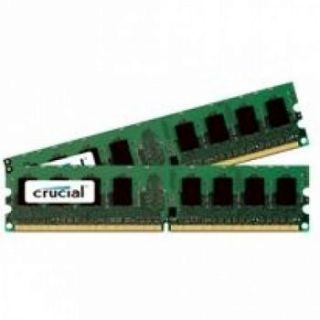 Product image of Crucial 8GB (2 x 4GB) Memory Kit PC2-5300 667MHz DDR2 240-pin DIMM CL5 Fully Buffered ECC