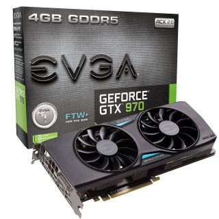Product image of EVGA GeForce GTX 970 FTW+ ACX 2.0+ (4GB) Graphics Card DVI (3 x DisplayPort) HDMI