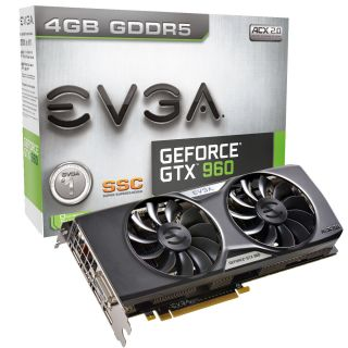 Product image of EVGA GeForce GTX 960 SuperSC ACX 2.0+ (4GB) Graphics Card DVI (3 x DisplayPort) HDMI