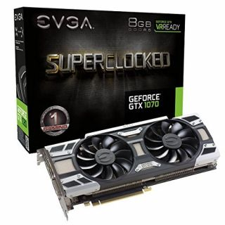 Product image of EVGA GeForce GTX 1070 (8GB) SC Gaming ACX Graphics Card PCI-E (3 x DisplayPort) DVI HDMI
