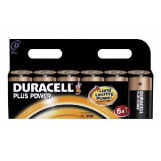 Product image of Duracell Plus Power (D) Alkaline Battery Pack of 6