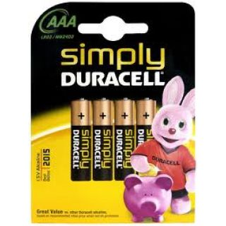 Product image of Duracell (AAA) Alkaline Battery (Pack of 4)