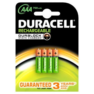 Product image of Duracell (AAA) NiMH Rechargeable Battery (1 x Pack of 4)