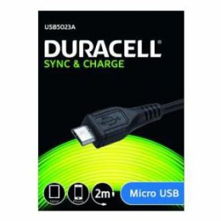 Product image of Duracell USB5023A Sync and Charge Cable for Micro USB Device