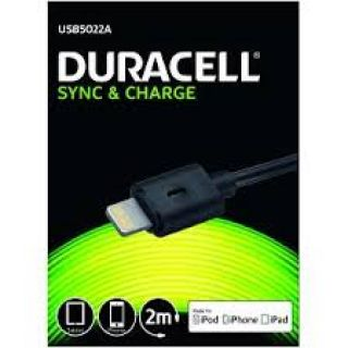 Product image of Duracell USB5022A (2 m) Lightning Cable for iPad / iPhone and iPod (Black)