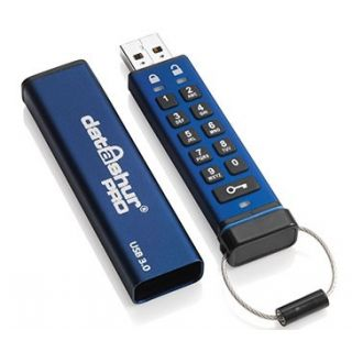 Product image of iStorage datAshur Pro 256-bit (64GB) USB Flash Drive (Blue)
