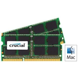 Product image of Crucial 4GB Memory Kit (2x2GB) PC3-8500 1066MHz DDR3 Unbuffered Non-ECC CL7 204-pin SO-DIMM for MAC