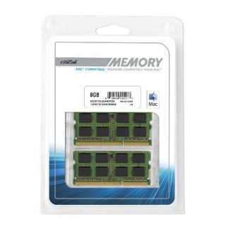Product image of Crucial 8GB Memory Kit (2x4GB) PC3-12800 1600MHz DDR3 Unbuffered Non-ECC CL11 204-pin SO-DIMM for MAC