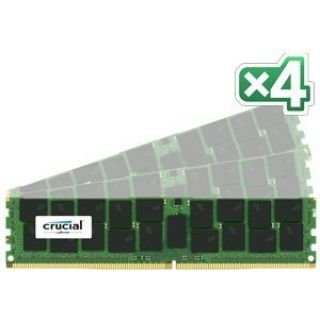 Product image of Crucial 128GB Memory Kit (4x32GB) PC4-17000 2133MHz DDR4 Load Reduced ECC CL15 288-pin DIMM (Quad Ranked)