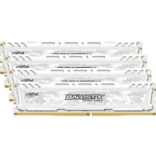 Product image of Crucial Ballistix Sport LT 32GB Memory Kit (4x8GB) PC4-19200 2400MHz DDR4 Unbuffered Non-ECC CL16 288-pin DIMM (White)
