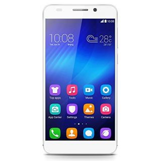 Product image of HUAWEI HONOR 6 5IN OCTACORE SINGLE SIM 16GB WHITE ANDROID 4.4 IN*