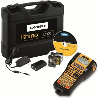 Product image of Dymo RhinoPRO 5200 Labelmaker Hard Case Kit Printer Adaptor and Rechargeable Battery for 6-19mm Tapes