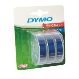 Product image of Dymo 3D (9mm) Embossing Tape (White on Blue) Pack of 3 Rolls for Dymo Junior and Omega Label Makers