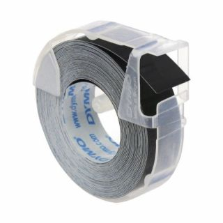 Product image of Dymo 3D (9mm) Embossing Tape (White on Black)  for Dymo Junior and Omega Label Makers (1 roll)*