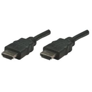 Product image of Manhattan High Speed Shielded Male To Male (15m) HDMI Cable (Black)