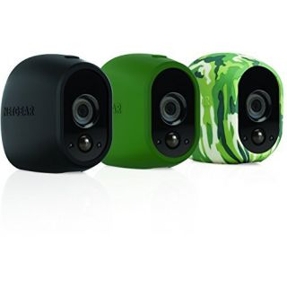 Product image of Netgear Arlo Camera Replaceable Multi-Colored Silicone Skins (Black,Green,Camouflage)