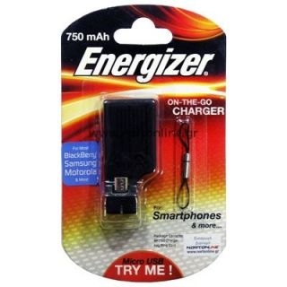 Product image of Energizer Energistick Portable Emergency Charger for Smartphones Compatible with Blackberry, HTC, Motorola, Nokia, Samsung and other Smartphones*