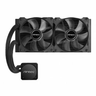 Product image of ANTEC 0-761345-10900-0 Antec H1200 PRO All in One CPU Liquid Cooler 240mm Radiator 12cm Blue LED Fans High Performance Pump