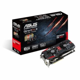 Product image of Asus R9390-DC2-8GD5 Graphics Card Radeon R9 390 8GB PCI Express DVI HDMI DisplayPort