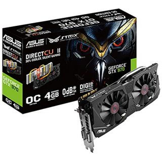 Product image of ASUS STRIX-GTX970-DC2-4GD Asus GTX970 STRIX 4GB DDR5 PCIe3 2 DVI HDMI DP 1178 MHz Boost DCU II