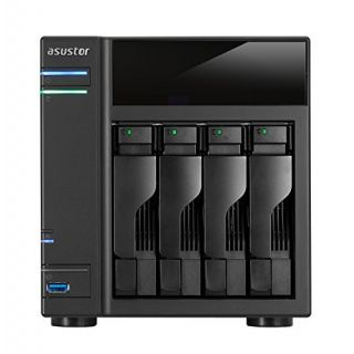 Product image of Asus AS-204T 4-Bay Network Attached Storage 512MB Memory Intel Atom Dual-Core Processor